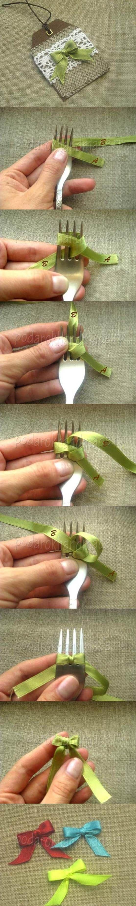 ribbon using fork