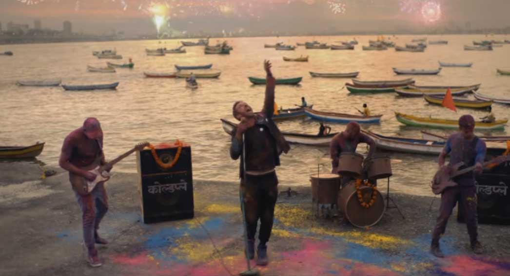 Coldplay latest song shoot in Mumbai, India