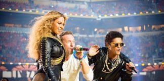 Coldplay, Bruno Mars and Beyonce live performance at Pepsi Halftime