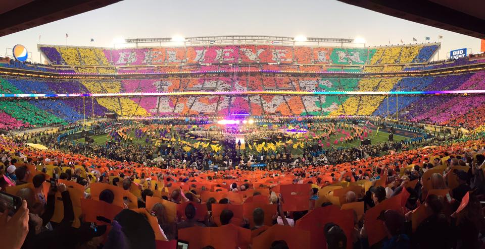 Coldplay, Bruno Mars and Beyonce live performance at Pepsi Halftime