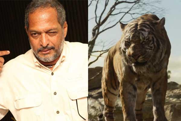 Nana patekar as sher khan in Jungle book