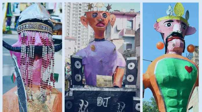 Creative Ravana in Delhi for Dussehra Festival