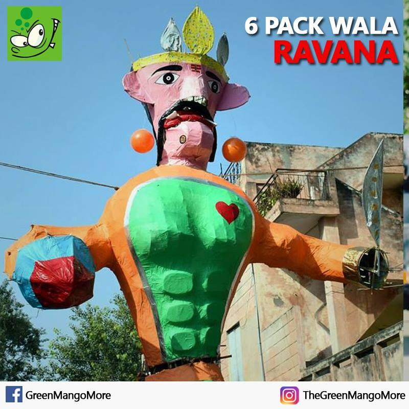 6 pack abs wala Ravana