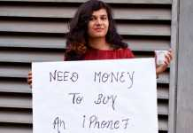 Prank: Girl asking for money to buy iPhone 7