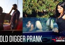 Gold digger prank with convertible car went wrong