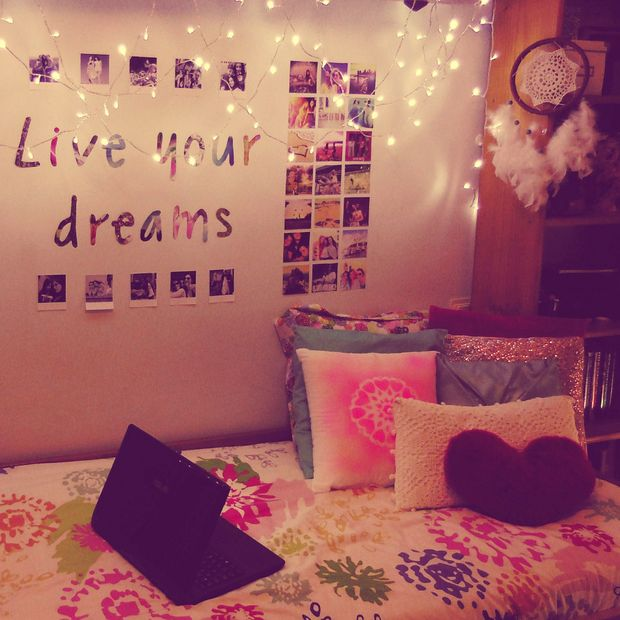 3 Decorate One Side Of Your Wall Choose A Quote And Make The Letter With Photographs Put Some Light On Room Is Ready Diy