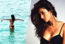 Disha Patani Yoga Video in Water