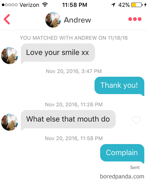Responses to pick up lines