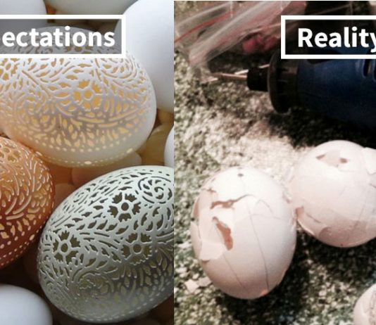 Best DIY Reality Vs Expectation Pictures That Will Show it Ain't Easy