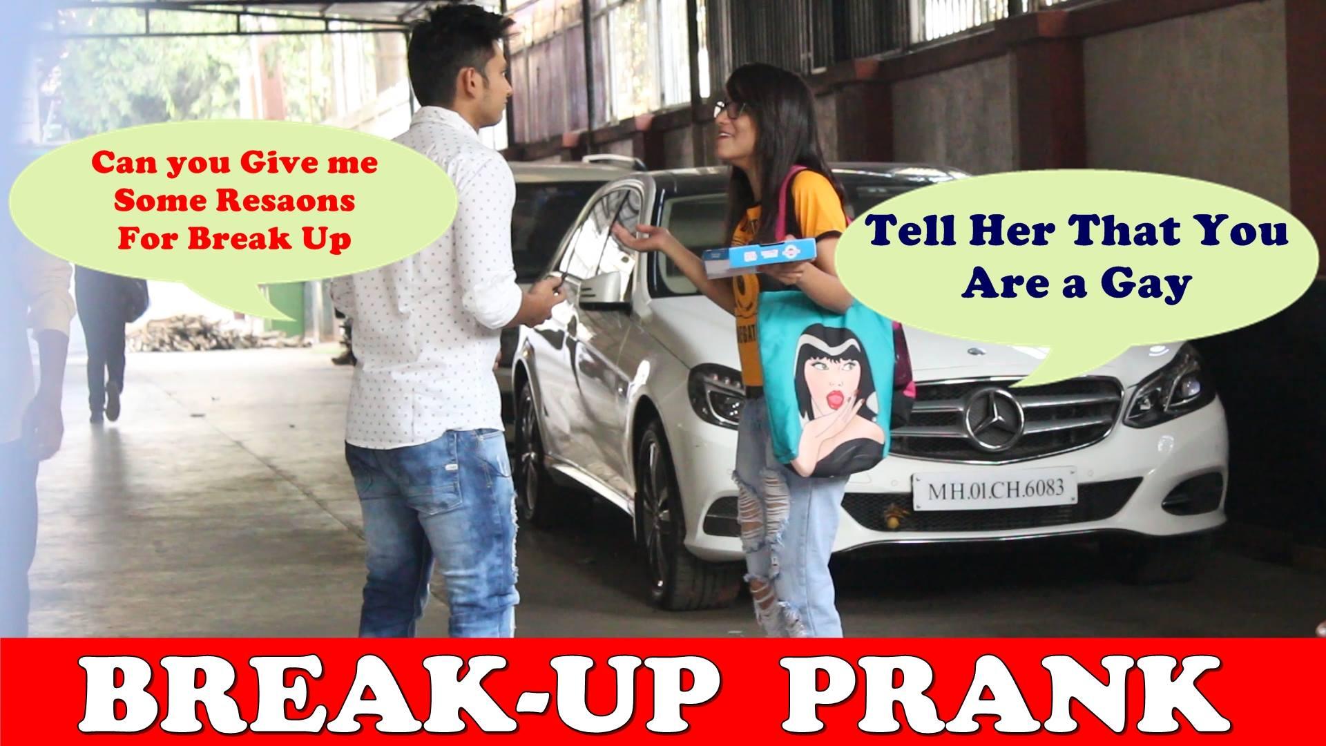 Funny Break Up prank on girls