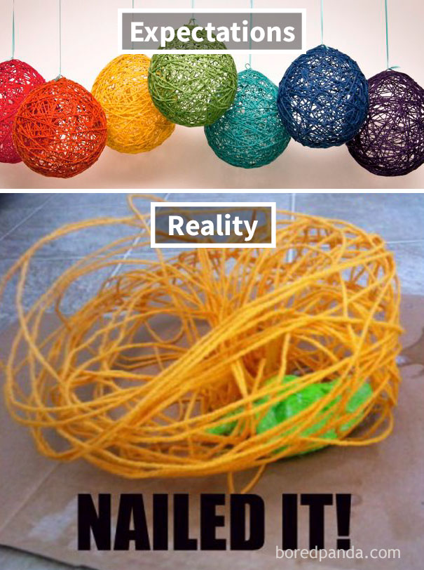 Best Diy Reality Vs Expectation Pictures That Will Show It