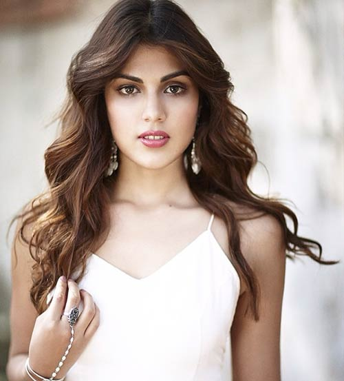 Rhea Chakraborty hot white look