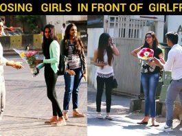 proposing girl in front of girlfriend