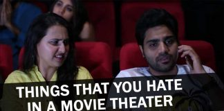 Funny video on things we hate in a movie theater