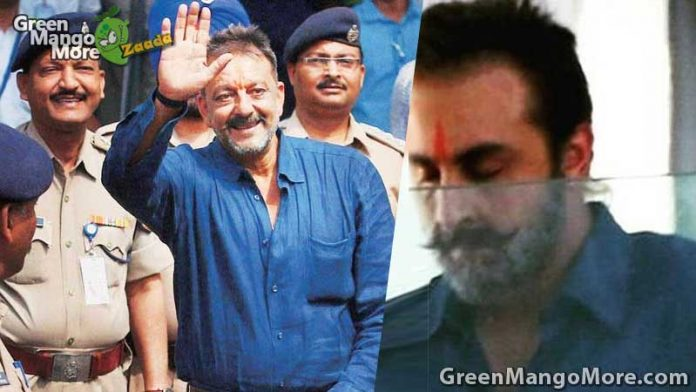 Ranbir kapoor's new look for Sunjay Dutt biopic movie