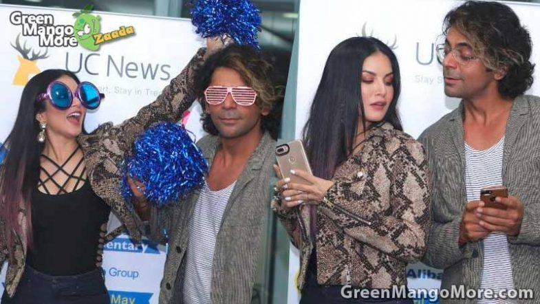 Sunil Grover and Sunny Leone having on IPL live commentary session
