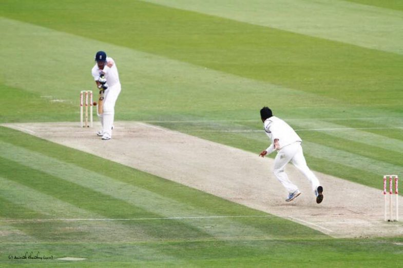 Dhoni took the wicket of Kevin Piterson in Lords stadium