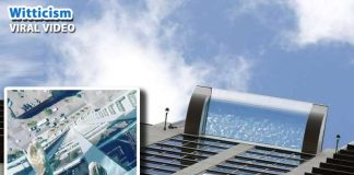 market square tower sky pool viral video