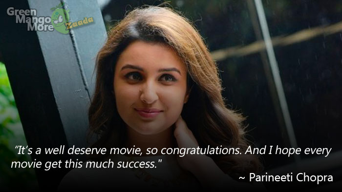 Parineeti Chopra after the success of Baahubali
