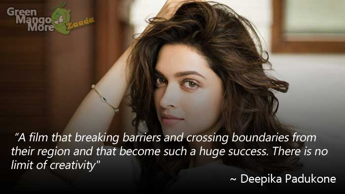 Deepika padukone after the huge success of Baahubali