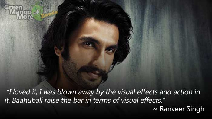 Ranbir Singh Blown Away from the success of Baahubali