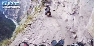 Dangerous roads of Himachal, India