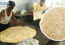 Indian Man making giant Chapatis