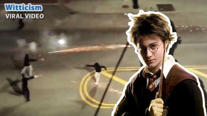 viral-video real harry potter fight caught on camera