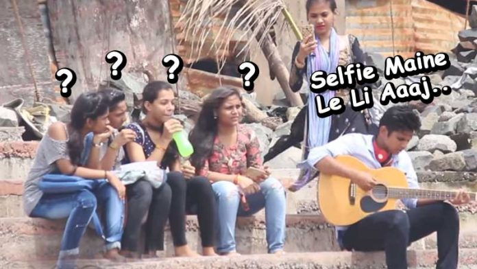 Check out public reaction on guy singing song of Dhinkchak Pooja