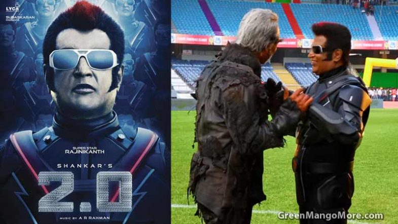 Akshay Kumar, Rajinikanth Having Fun on the sets of Robot 2.0