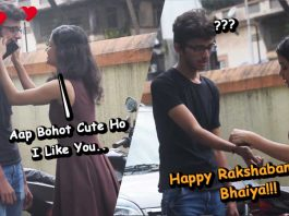 hot girl tying rakhi to stranger prank