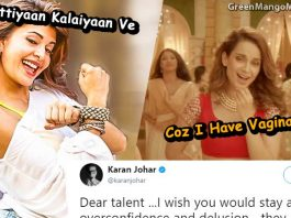 Karan Johar reacted to AIB and Kangna's Vagina song