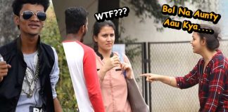 bol na aunty aau kya shout out prank Mumbai