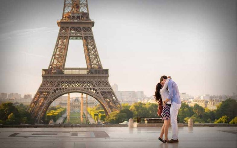 one of the top 10 honeymoon destination, romantic Paris's Eiffel tower
