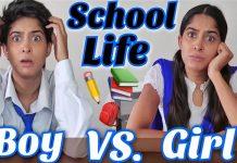 School life: Boys Vs Girls by Rikshawali