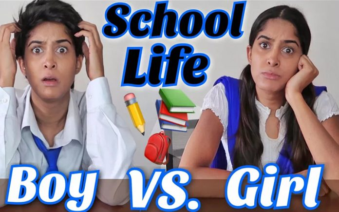 School life: Boys Vs Girls by Rikshawali