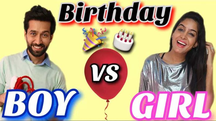 boys vs girls on their birthdays