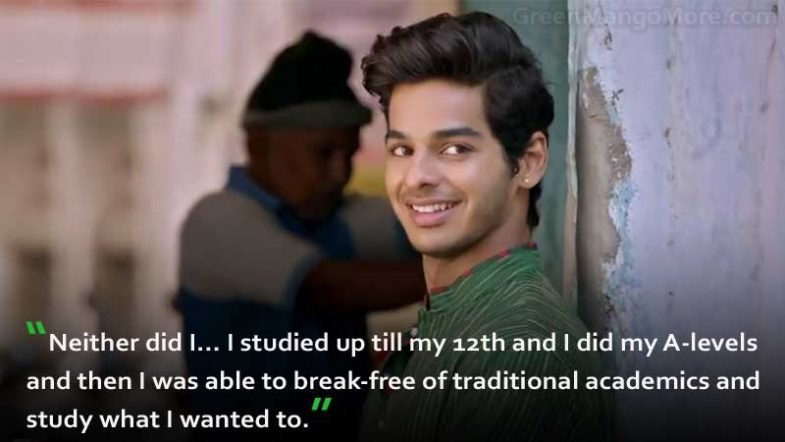 Ishaan Khattar Qualification 12th pass