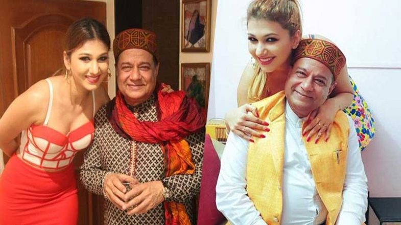anup jalota with his girlfriend jasleen at bigg boss