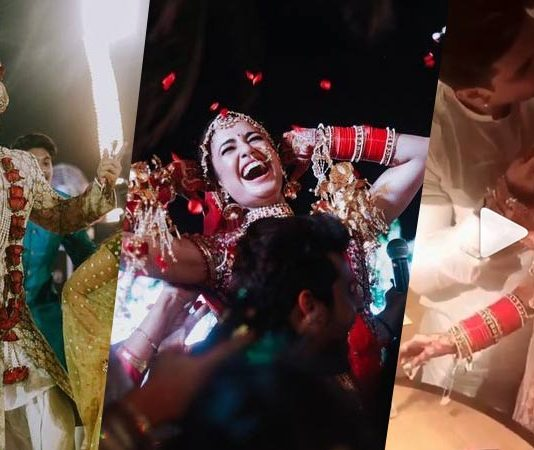 Prince narula and yuvika weddding pictures and kissing video