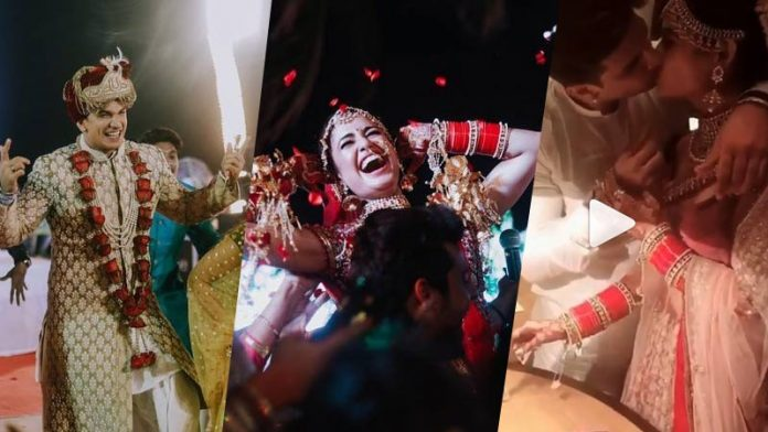 Prince narula and yuvika weddding pictures and kissing video