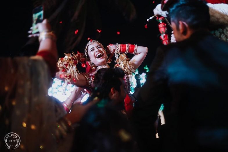 Yuvika Chaudhary Dancing on her wedding