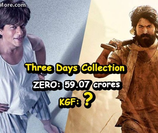 KGF beats SRK's ZERO movie in First Weekend Collection
