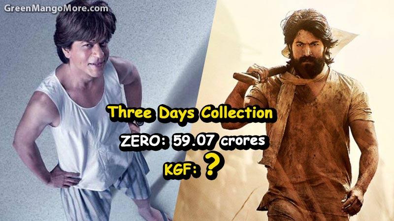 KGF beats Shahrukh Khan's ZERO on its first Weekend