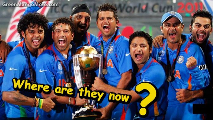 where are the winning team members of 2011 cricket world cup