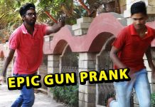 watch this hilarious gun prank on people by Funk You