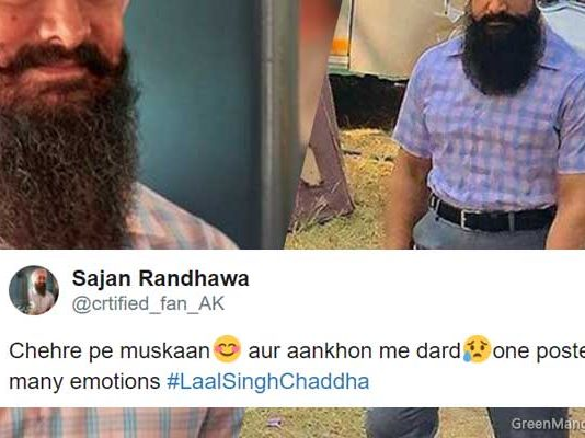 aamir khan laal singh chaddha look revealed, twitter reacted
