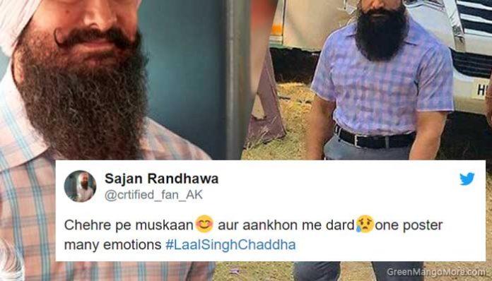 aamir khan laal singh chaddha look revealed, twitter reacted