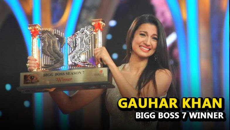 Winner of Bigg Boss Season 7, Gauhar Khan